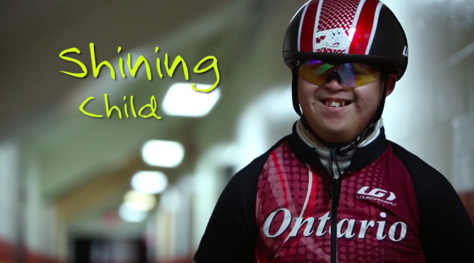 shining child, down syndrome, special olympics